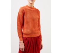 Baumwoll-Cashmere-Pullover Orange