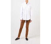 Klassische-Baumwoll Bluse 'Gibson' Weiß