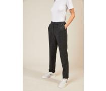 Woll-Cashmere-Hose mit Fischgrätmuster Grau - Cashmere