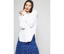 Baumwollpullover Weiß