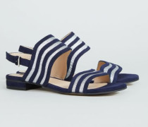 Verzierte Sandale '53 Bella Street' Marineblau/Silber - Leder