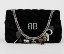 Umhängetasche 'BB Bag' mit Souvenir-Charms Black Schwarz - Leder