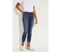 Mid Rise Jeans 'Capri' Blau