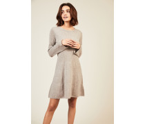 Woll-Cashmere Strickkleid Taupe