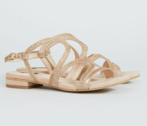 Verzierte Sandale '33 Bella Street' Nude - Leder