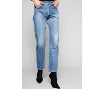 Standard-Jeans mit Logo Indigo-Blau - 100% Baumwolle