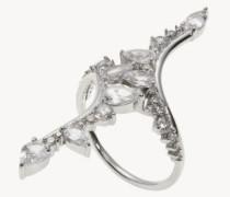 Ring 'Electric Bolt' mit Diamanten und Saphiren 18 Kt. Weißgold