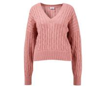 Baumwoll-Seiden-Pullover mit Paillettendetails Rosenholz