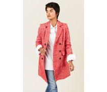 Mantel mit Fischgrätmuster Rot/Weiß