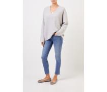 Cashmere-Pullover mit V-Neck Grau