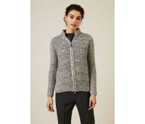 Cashmere Cardigan mit Reißverschlussdetails Grau - Cashmere