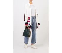 Woll-Cardigan mit Patches Weiß/Multi