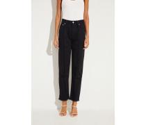 Jeans mit ausgefransten Nähten Schwarz