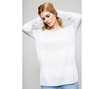Gestreifter Pullover 'Venetia' Weiß/Dust - Cashmere