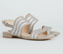 Verzierte Sandale '53 Bella Street' Grau - Leder