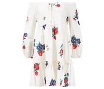 Kleid 'Embroidered Beach Dress' Weiß/Multi