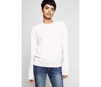 Sweatshirt mit Aufdruck Rosé - 100% Baumwolle