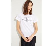 T-Shirt mit einem Logo-Detail Weiß -