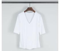 Basic-Shirt V-Neck Weiß
