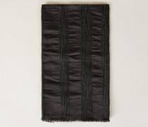 Woll-Seiden-Schal mit Glitzerdetails Grau - Seide
