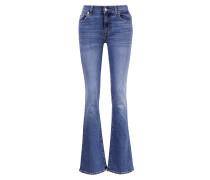 Bootcut-Jeans Blau