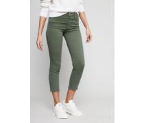 High Rise Cigarette Ankle Jeans 'Cara' Grün