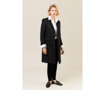 Mantel mit Lurexfäden Schwarz