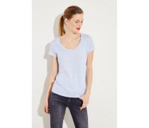Leinen-Shirt Hellblau