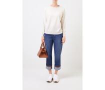 Jeans 'The Skater Jean' mit Perlenverzierung Blau