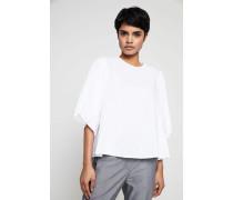 Baumwoll-Bluse 'Gilda' mit ausgestellten Ärmeln Weiß