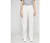 Weite Hose 'Marissa' White/Pinstripe - 100% Baumwolle