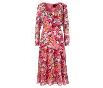 Seidenkleid 'Misha' mit floralem Print Pink/Multi