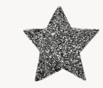 Sternenförmiger Ohrstecker 'Superstellar' 18 Karat Schwarzgold