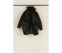 Kurze Jacke mit Tüll Schwarz