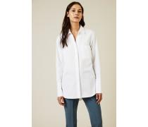 Baumwoll-Bluse 'Lively' Weiß