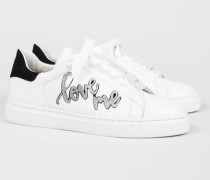 Sneaker '27 Love Street' Weiß/Silber - Leder