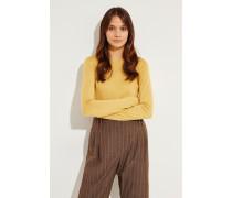 Cashmere-Seiden-Pullover Gelb