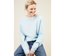 Oversize Mohair-Pullover 'Dramatic Moh' Hellblau