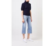 Kurzarm Cashmere-Pullover 'Fenja' Blau