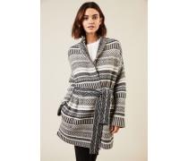 Cashmere-Woll-Cardigan Grau/Multi - Cashmere