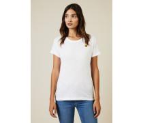 Baumwoll-Shirt mit Applikation Weiß