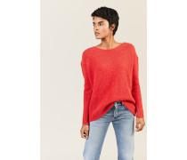 Oversize Alpaca-Pullover Rot