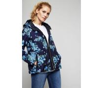 Leichte Daunenjacke mit Floralem-Print 'Raief' Blau