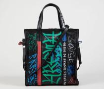 Shopper 'Bazar S' mit Graffittimuster Black Multi