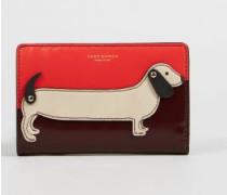 Portemonnaie 'Dashhund' Rot/Multi - Leder