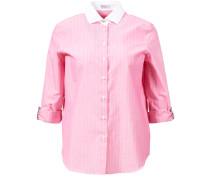 Bluse mit Perlenverzierung Pink/Weiß