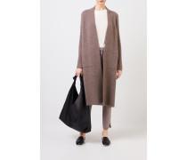 Doubleface Cashmere-Seiden-Mantel 'Polla' Taupe/Ecru 75% Cashmere - 25% Seide Futter: -