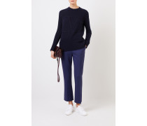 Woll-Cashmere-Pullover 'V' Navy