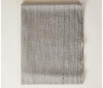 Schal mit Glitzerfäden und Pailletten Grau