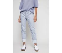 Straight Leg Jeans Rauchblau